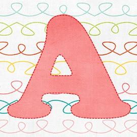 Алфавит с имитацией строчки