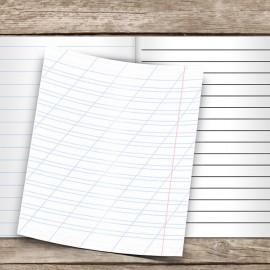 Разлиновка, косая линия — бумага