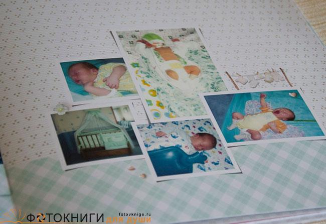 Примеры фотокниги про новорожденных девочек и мальчиков