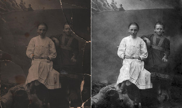 Обработка старых фотографий
