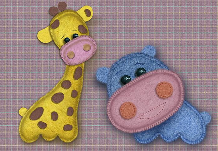 жираф и бегемот
