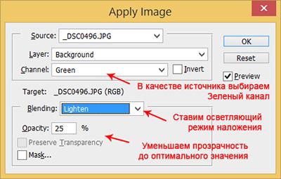 Обработка фотографий с помощью каналов